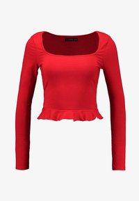 Even&Odd - Top sdlouhým rukávem - dark red - 3