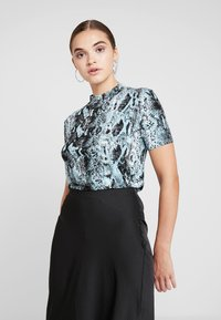 Even&Odd - T-shirt print -  blue/black - 0