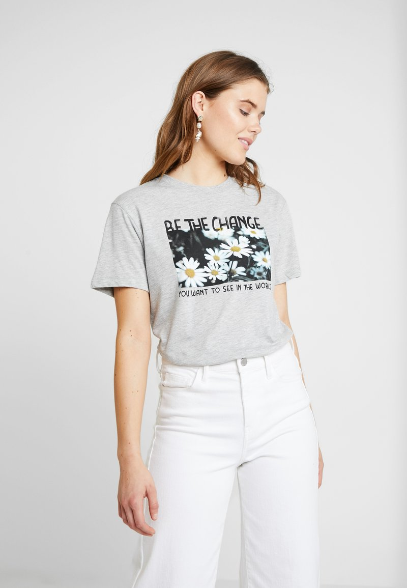 Even&Odd - T-Shirt print - mottled light grey