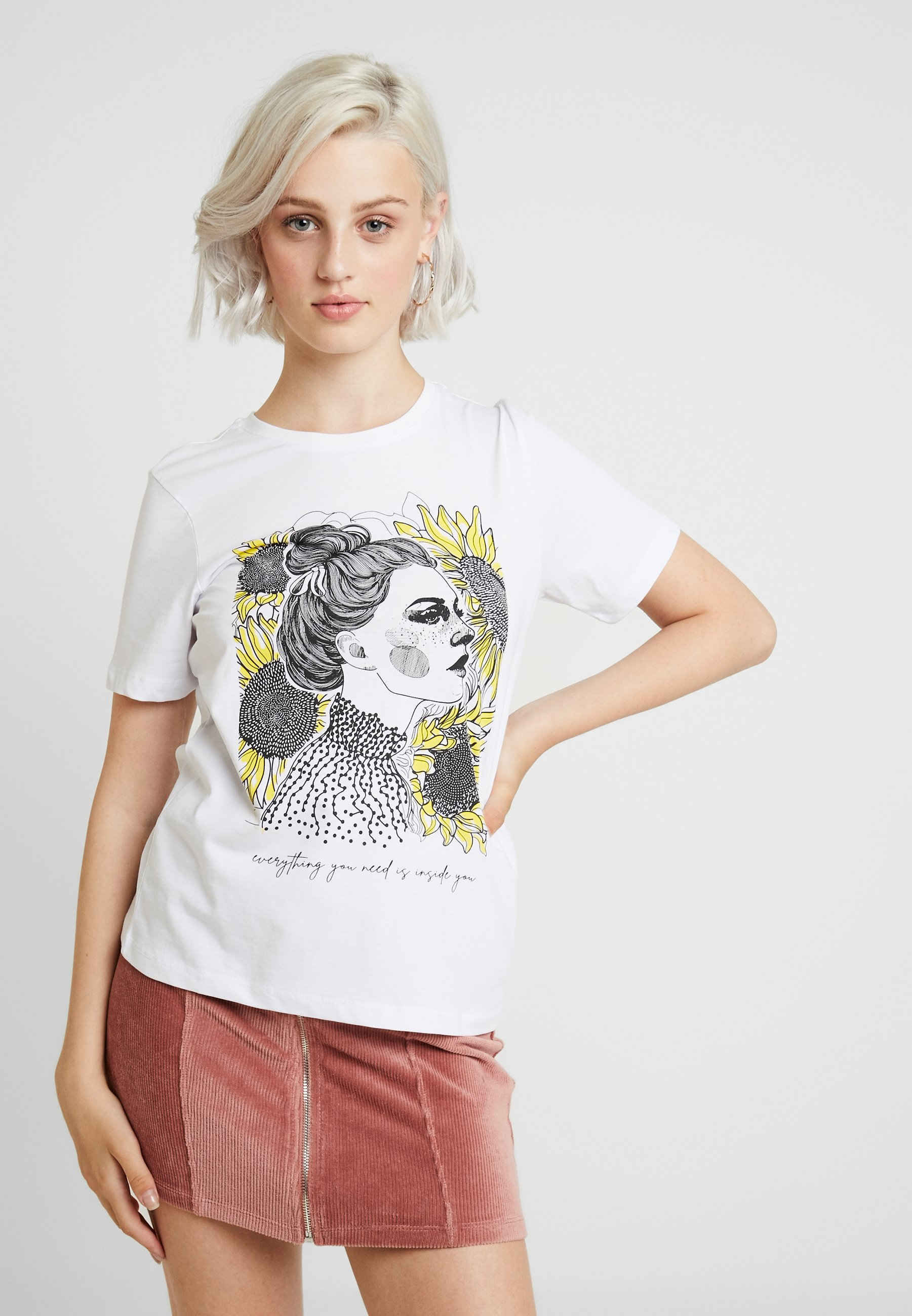Even amp;odd ImpriméWhite T shirt multicoloured IE2WH9YeD