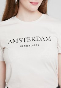 Even&Odd - Print T-shirt - off-white - 4