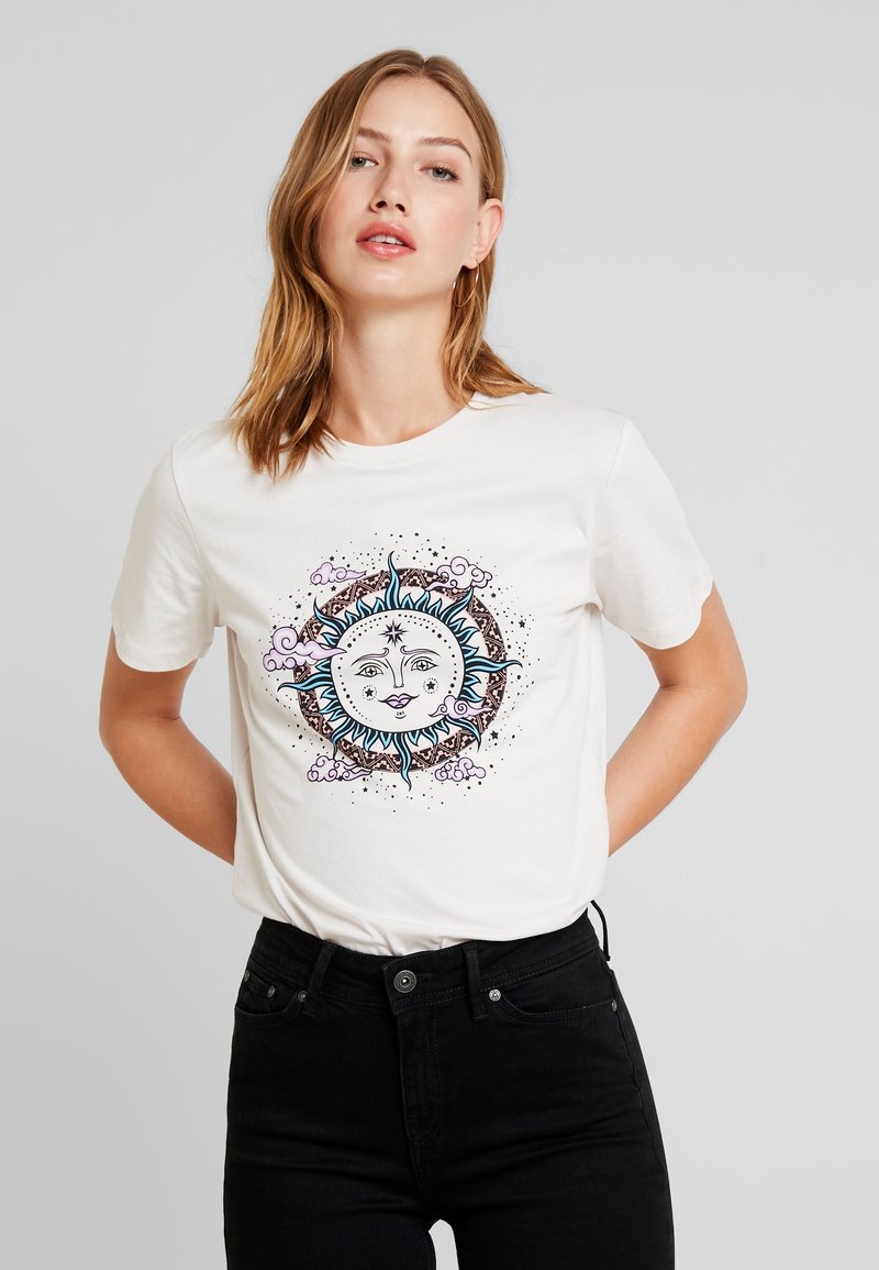 Even&Odd - T-Shirt print - off-white/silver