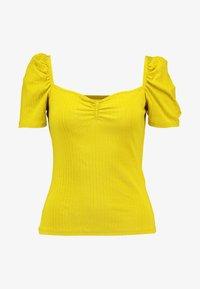 Even&Odd - T-shirt z nadrukiem - mustard - 4