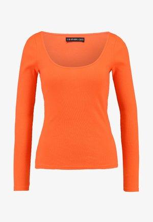 Bluzka z długim rękawem - mandarine red