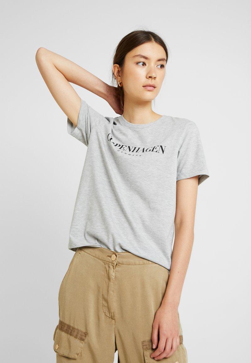 Even&Odd - T-shirts print - mottled grey