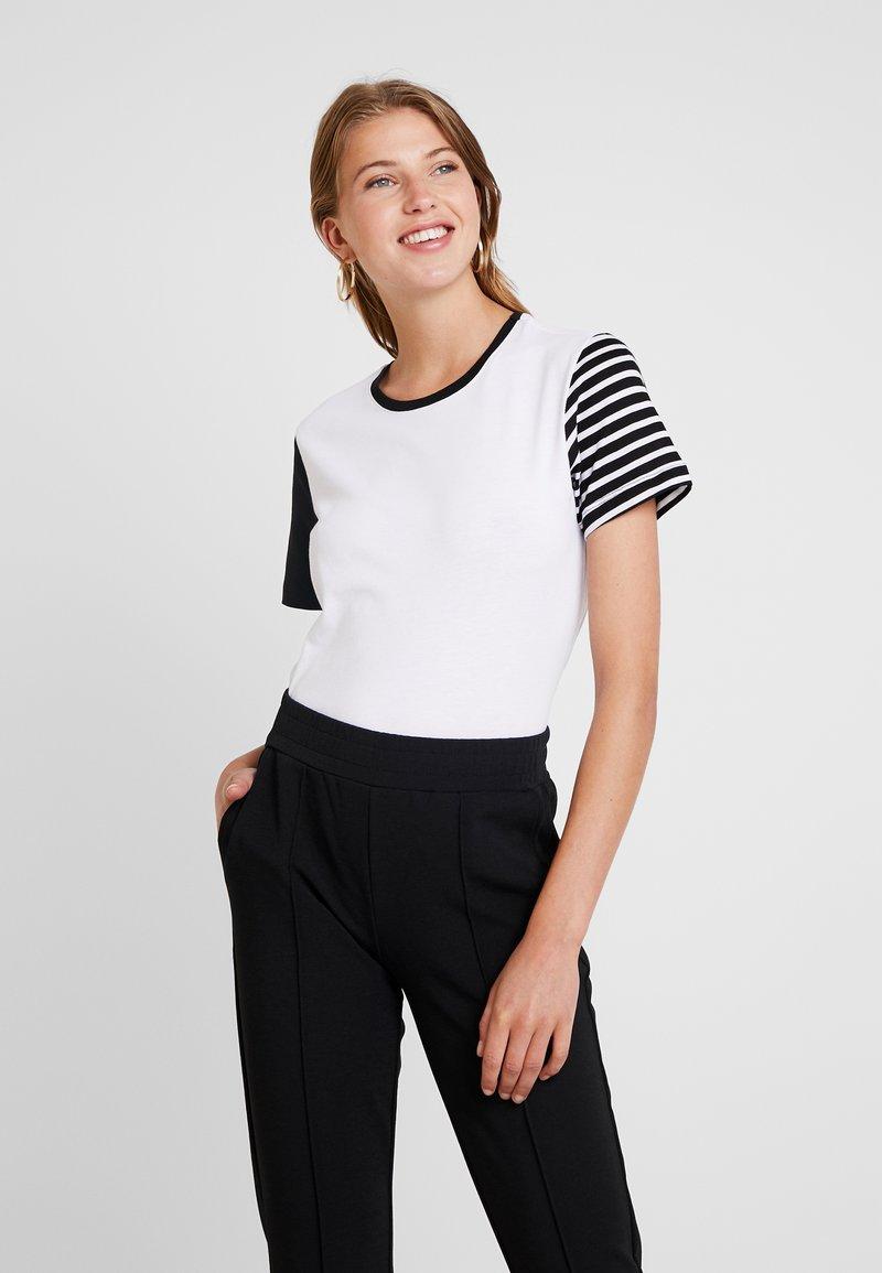 Even&Odd - T-Shirt print - white/black