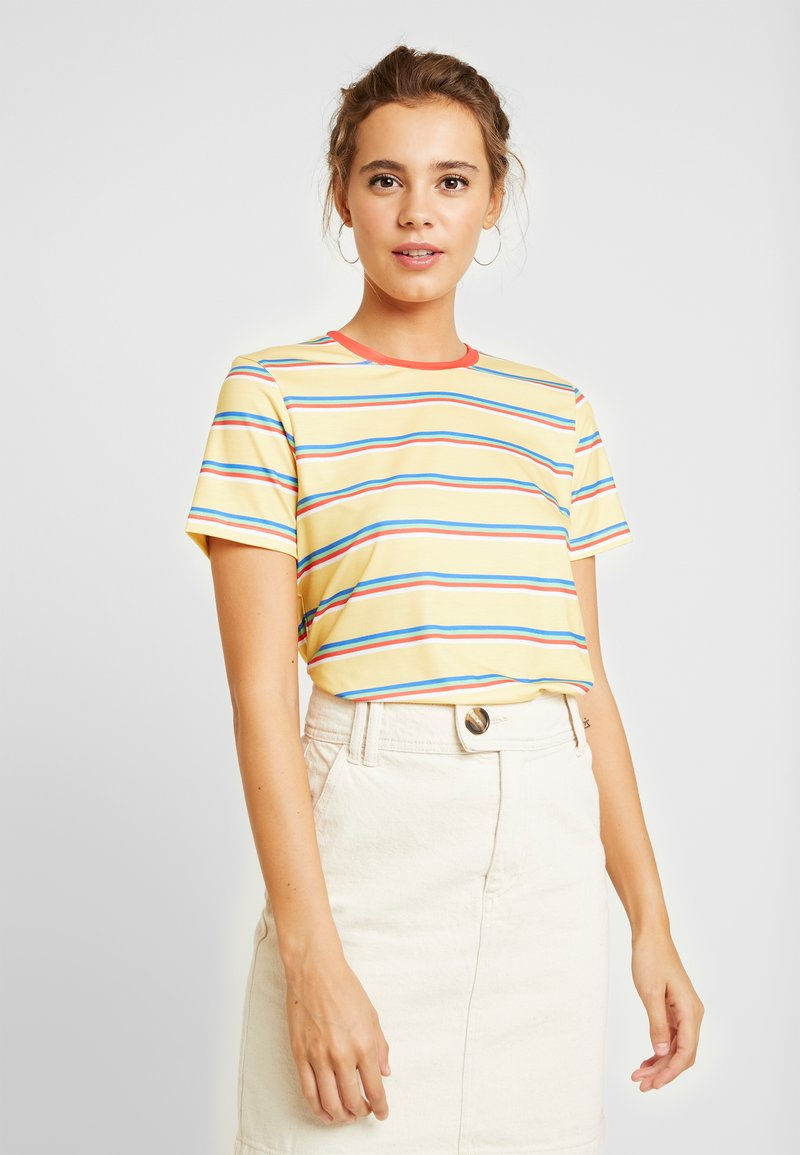 Even&Odd - T-Shirt basic - yellow/multicoloured