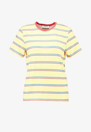 T-Shirt print - yellow/multicoloured