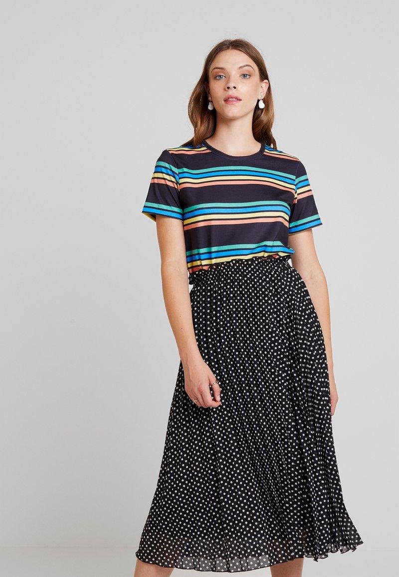 Even&Odd - T-Shirt basic - black/ multicoloured