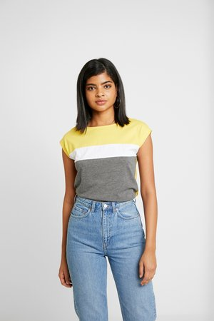 Camiseta estampada - mottled grey