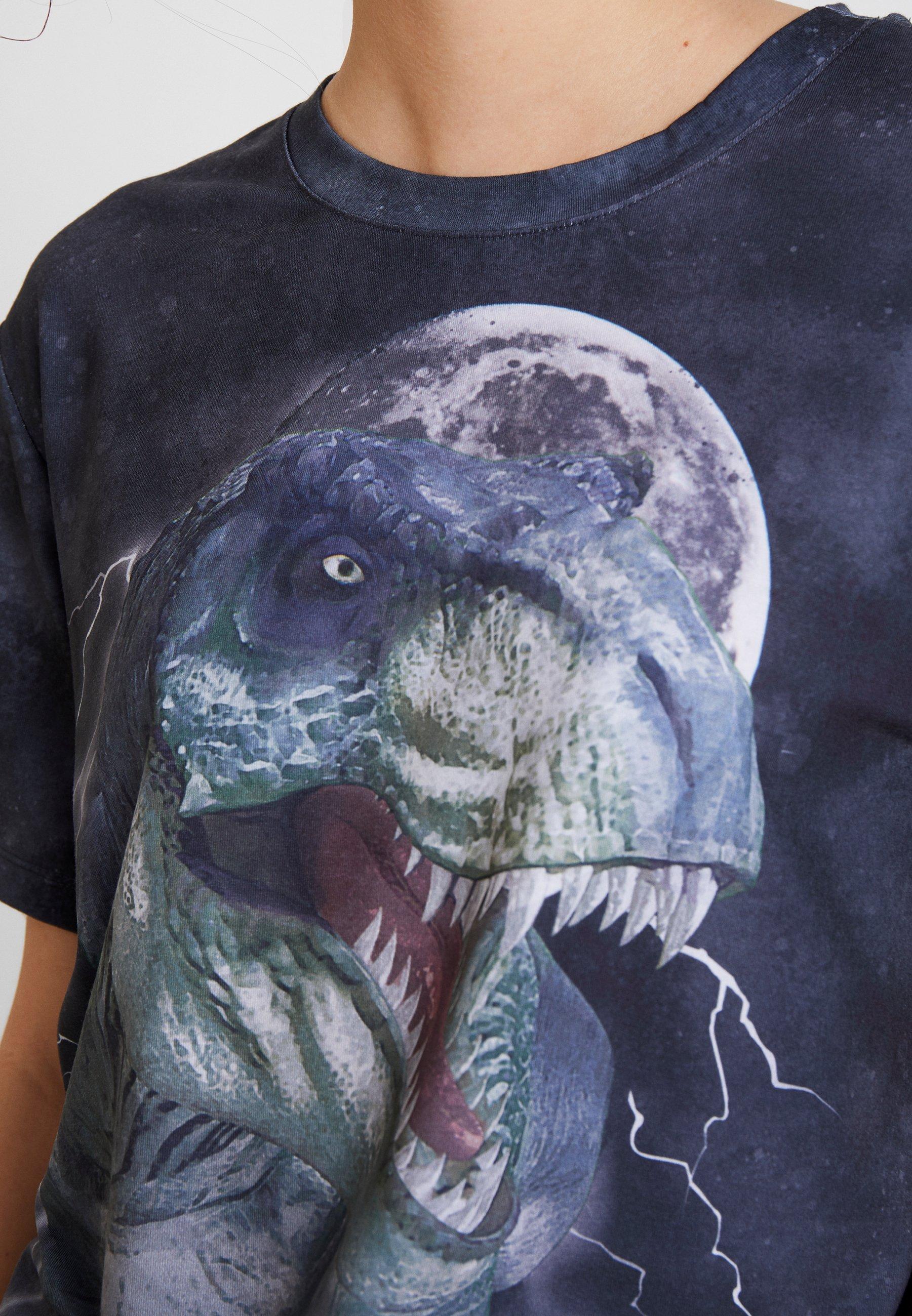 Even Con T shirt amp;odd Stampa Anthracite OXZiPku
