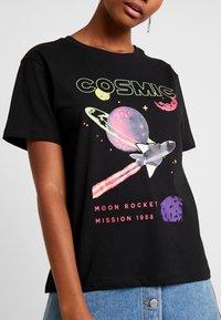 Even&Odd - T-shirt imprimé - black - 5