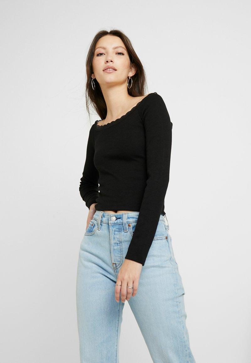 Even&Odd - Long sleeved top - black
