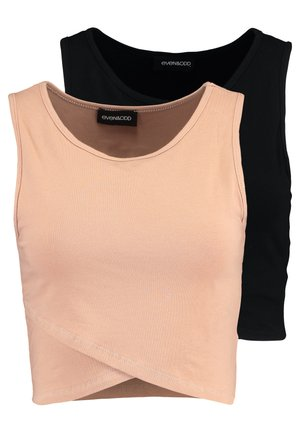 2 PACK - Top - camel/black