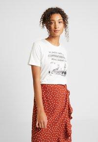 Even&Odd - Print T-shirt - off-white - 0