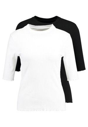Långärmad tröja - white/black