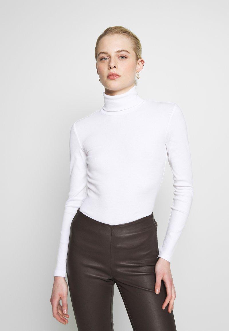 Even&Odd - Topper langermet - white