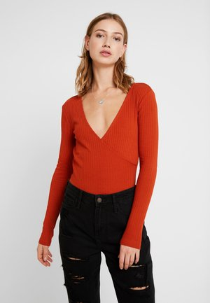 BODYSUIT BASIC - Topper langermet - rusty
