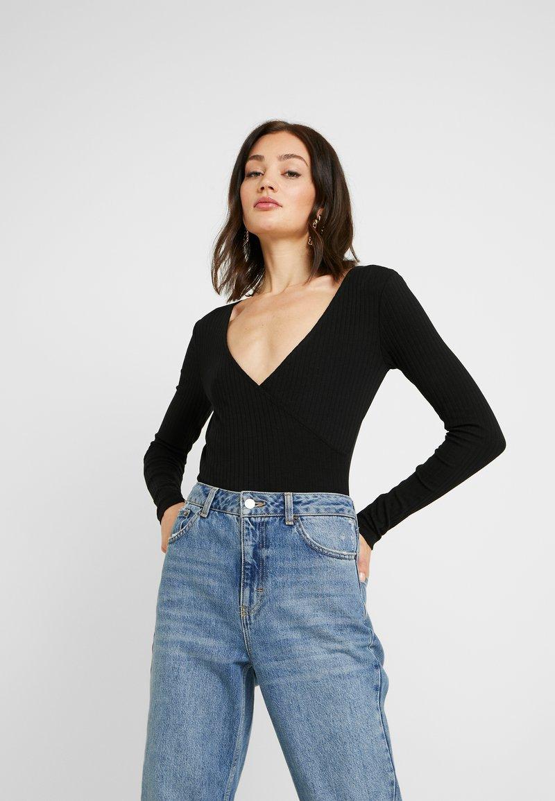 Even&Odd - BODYSUIT BASIC - Pitkähihainen paita - black