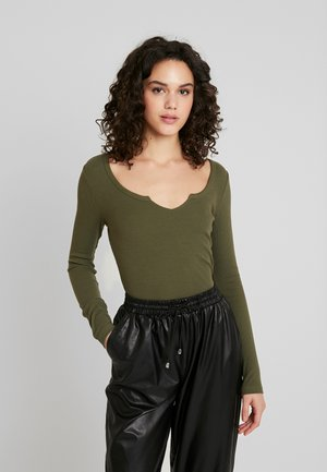 BASIC - Long sleeved top - khaki