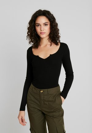BASIC - T-shirt à manches longues - black