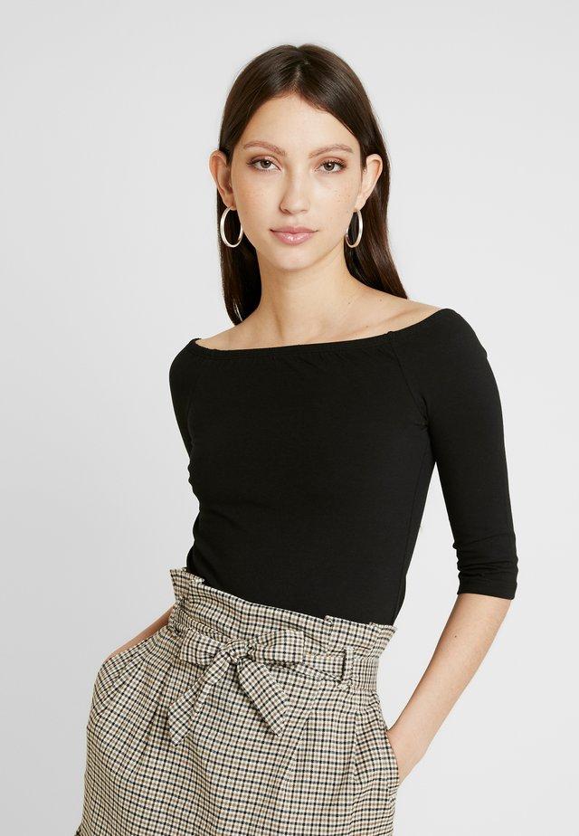 BASIC - T-shirt à manches longues - black