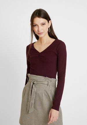 BASIC - Long sleeved top - burgundy