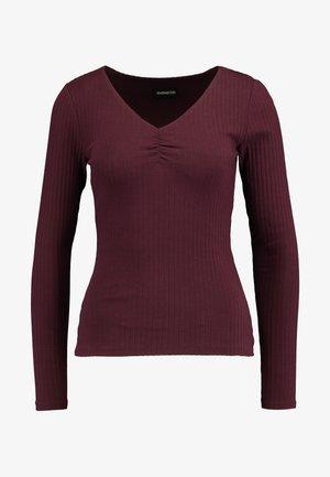 BASIC - Long sleeved top - burgundy