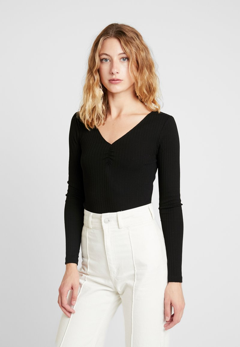 Even&Odd - BASIC - Long sleeved top - black