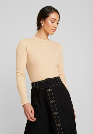BODYSUIT BASIC - Long sleeved top - tan