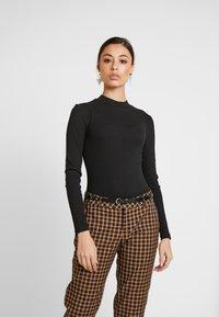 Even&Odd - BODYSUIT BASIC - T-shirt à manches longues - black - 0