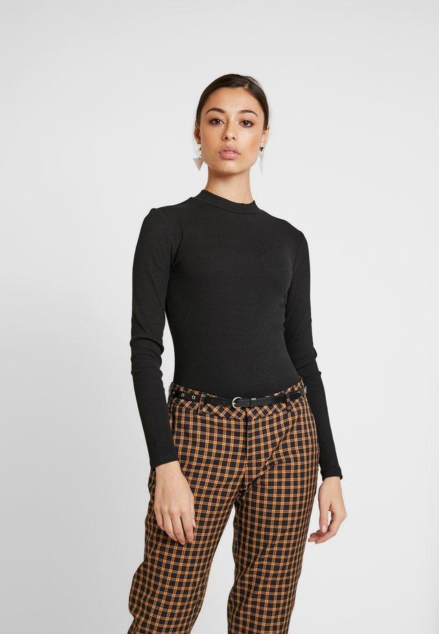 BODYSUIT BASIC - Long sleeved top - black