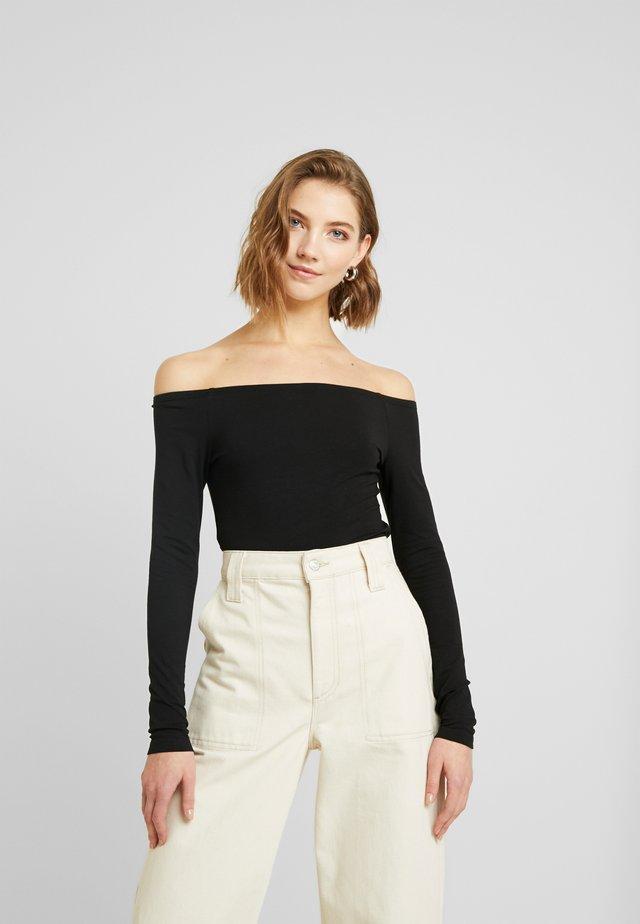 BASIC - Bluzka z długim rękawem - black