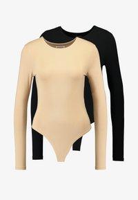 Even&Odd - 2 PACK  - Maglietta a manica lunga - tan/black - 5