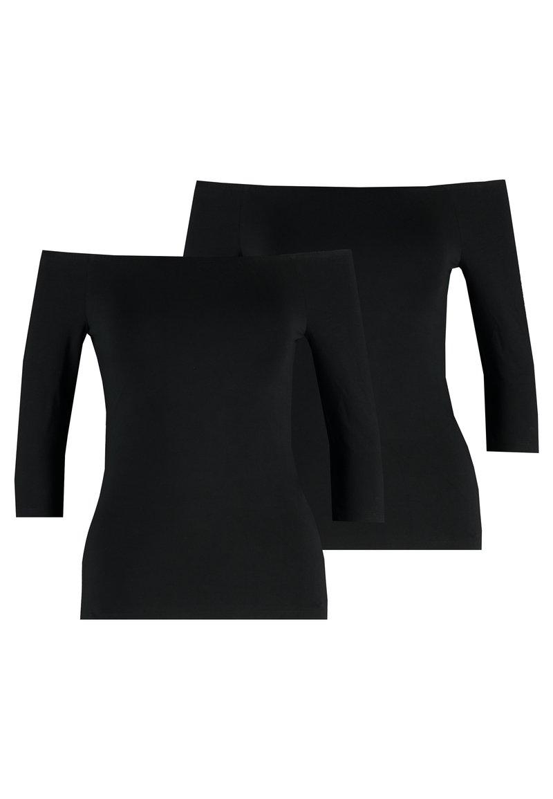 Even&Odd - 2 PACK - Long sleeved top - black