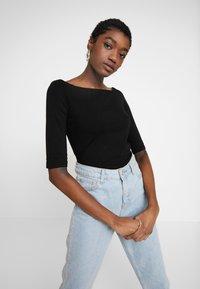 Even&Odd - 2 PACK - Long sleeved top - black - 2