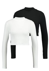 Even&Odd - 2 PACK - Long sleeved top -  white/black - 0