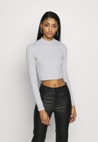 Even&Odd - 2 PACK - Long sleeved top - light grey/black - 2