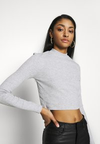Even&Odd - 2 PACK - Long sleeved top - light grey/black - 5