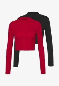 Even&Odd - 2 PACK - T-shirt à manches longues - black/red - 0