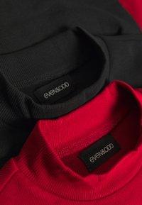 Even&Odd - 2 PACK - T-shirt à manches longues - black/red - 5