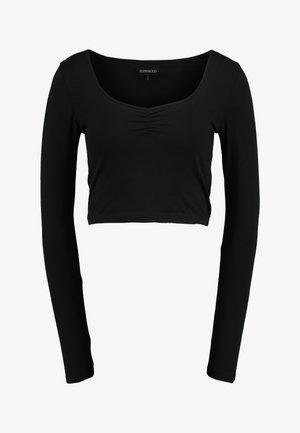LANGARMSHIRT BASIC - Long sleeved top - black