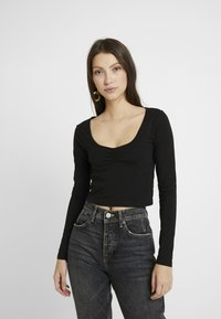 Even&Odd - LANGARMSHIRT BASIC - Long sleeved top - black - 0