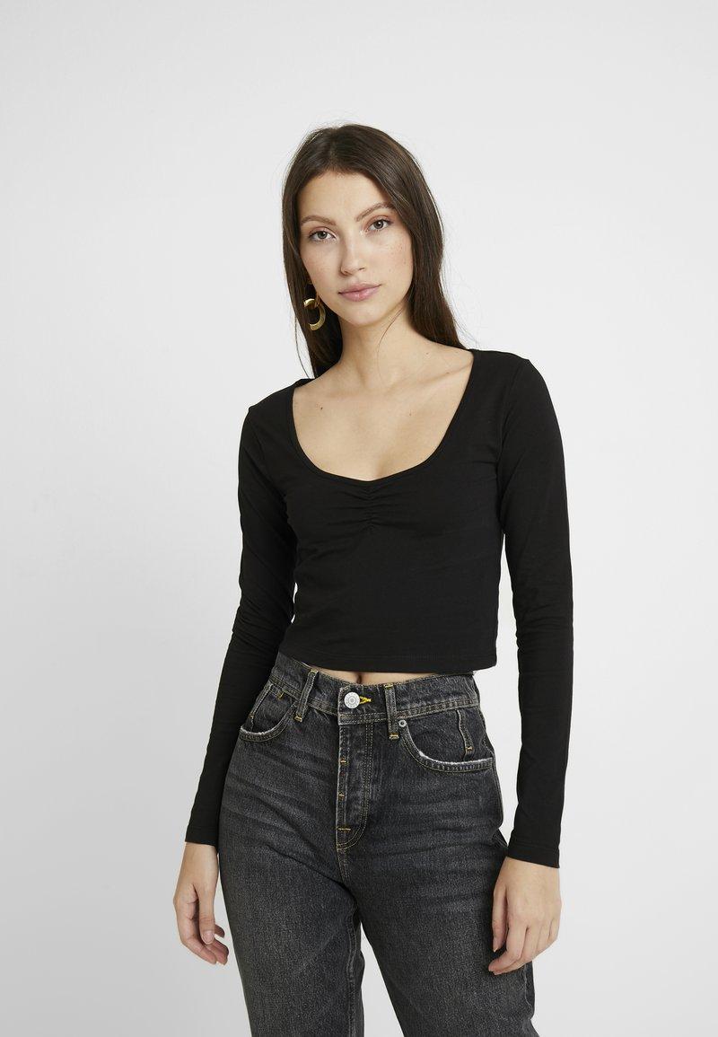 Even&Odd - LANGARMSHIRT BASIC - Long sleeved top - black