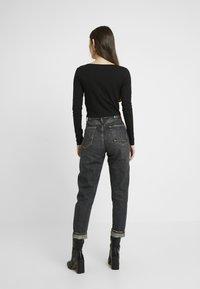 Even&Odd - LANGARMSHIRT BASIC - Long sleeved top - black - 2
