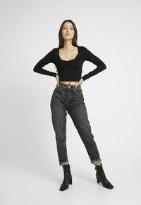 Even&Odd - LANGARMSHIRT BASIC - Long sleeved top - black - 1