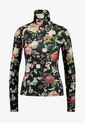 Long sleeved top - black/multicoloured