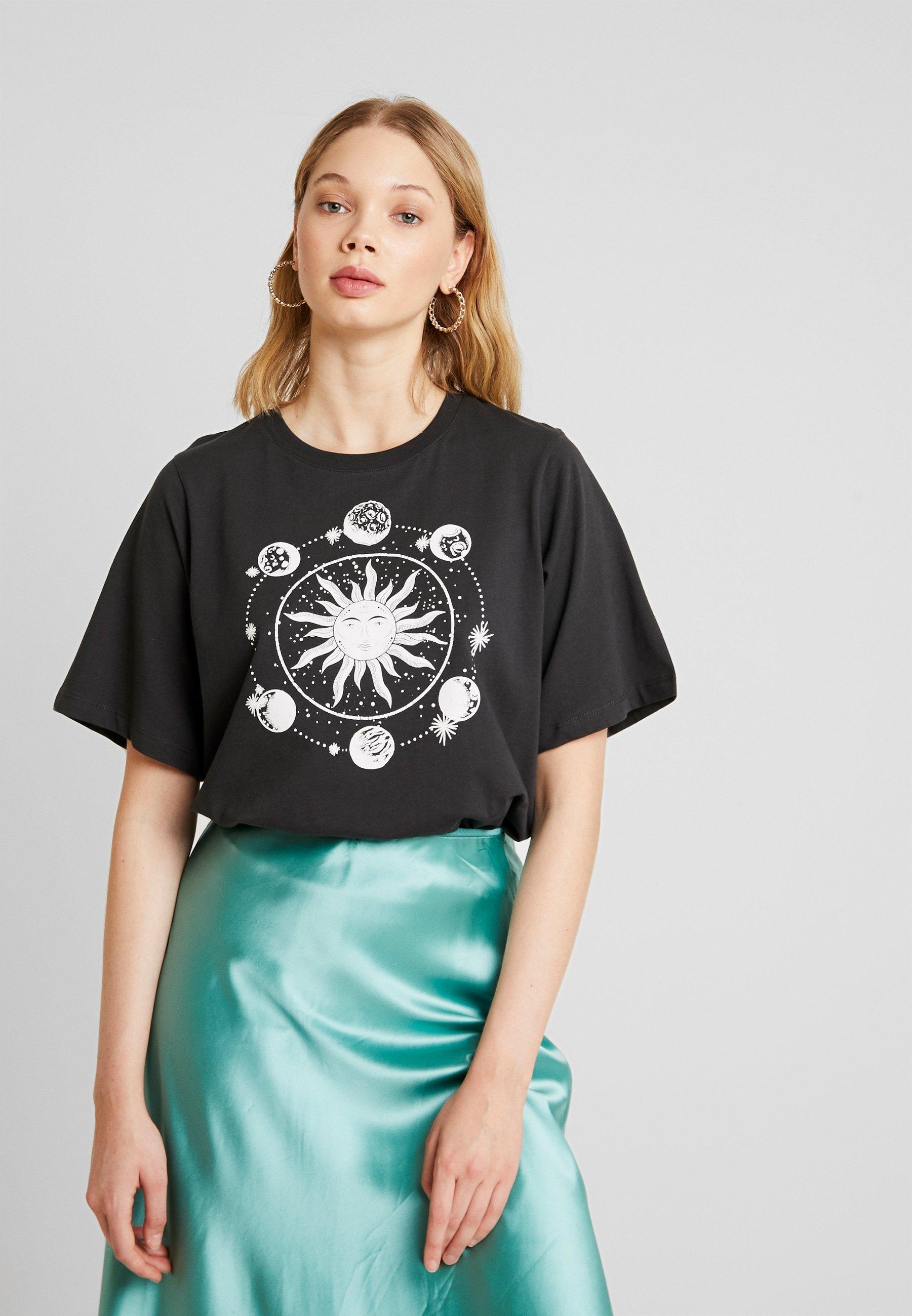 imprimé Even T shirt amp;Odd anthracite uF3JK15Tlc