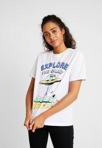 Even&Odd - Camiseta estampada - white - 0