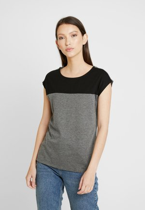 T-shirts med print - black/mottled grey